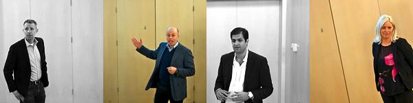 Talare på frukostmöte om handel i Huddinge. Fotograf Fredrik Welander